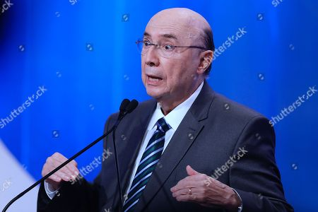 Henrique Meirelles, candidate of the official party Brazilian Democratic Movement (MDB) participates speaks during the second televised debate for the 2018 Brazilian elections in Sao Paulo, Brazil, 17 August 2018. The Brazilian Presidential elections are scheduled for 07 October 2018.