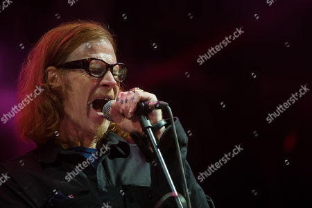 US musician Mark Lanegan performs with portuguese band Dead Combo at 'Paredes de Coura' music festival, in Paredes de Coura, north of Portugal, 18 August 2018 (issued 19 August 2018). The festival runs until 18 August.