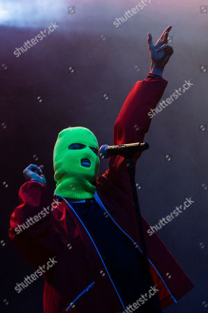 Nadya Tolokonnikova of Russian feminist group Pussy Riot performs on stage at 'Paredes de Coura' music festival, in Paredes de Coura, north of Portugal, 18 August 2018. The festival runs until 18 August.