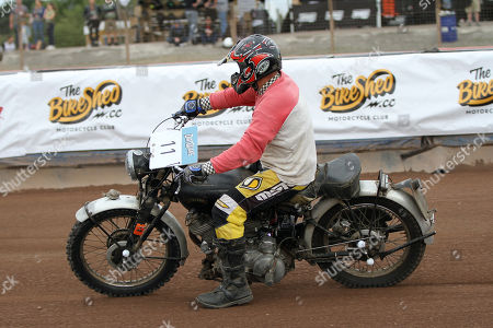 Stock Picture of John Morris rides in the IRB class during DirtQuake at the Arena Essex Raceway on 18th August 2018