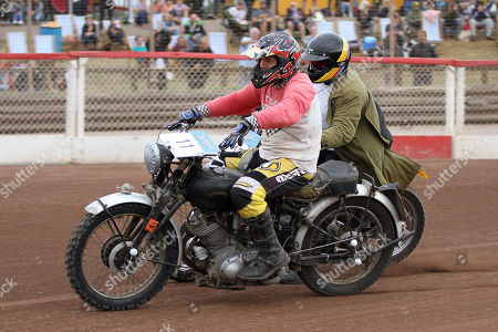 Stock Photo of John Morris rides in the IRB class during DirtQuake at the Arena Essex Raceway on 18th August 2018