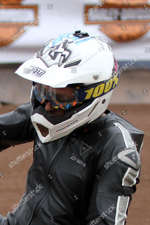 Stock Image of Guy Martin on his Harley in the chopper class during DirtQuake at the Arena Essex Raceway on 18th August 2018