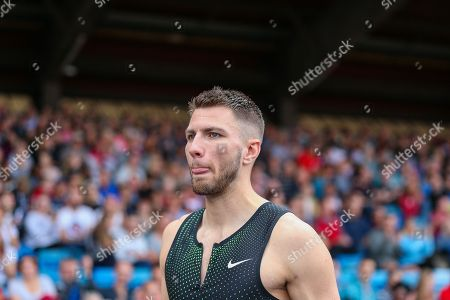 Andrew POZZI of Great Britain, winner of the Men's 110m Hurdles Heat 1 during the Muller Grand Prix 2018 at Alexander Stadium, Birmingham. Picture by Toyin Oshodi