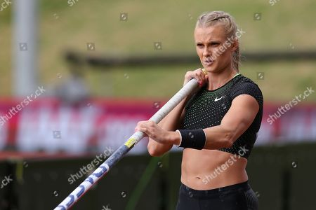 Katie Nageotte (USA), Women's Pole Vault during the Muller Grand Prix at Alexander Stadium, Birmingham. Picture by Ian Stephen