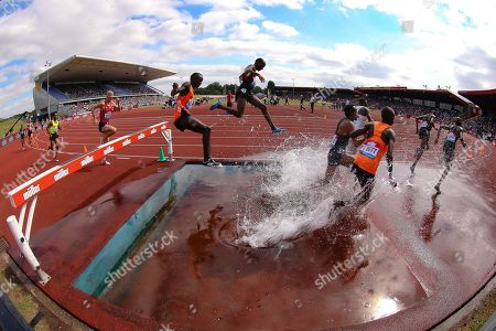 Men's 3000m Steeplechase during the Muller Grand Prix at Alexander Stadium, Birmingham. Picture by Ian Stephen