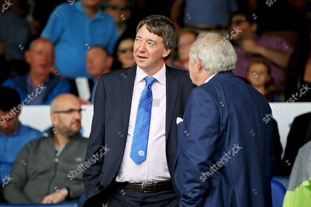 Posh joint owner Dr Jason Neale talking to Barry Fry before the EFL Sky Bet League 1 match between Peterborough United and Luton Town at London Road, Peterborough