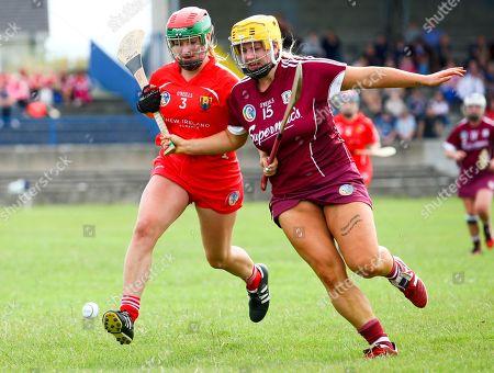 Stock Photo of Cork vs Galway. Galway's Rachel Monahan and Cork's Sarah Harrington