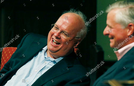 Karl Rove, Jon Meacham. Political strategist Karl Rove, left, laughs with his friend, Pulitzer Prize winning author Jon Meacham, as they discuss the historical progress of politics during the Mississippi Book Festival in Jackson, Miss