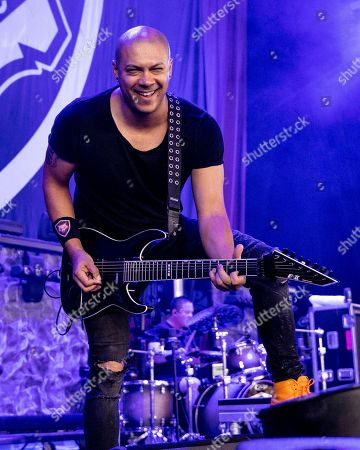 Editorial photo of Bad Wolves in Concert - , Mass., Mansfield, USA - 18 Aug 2018