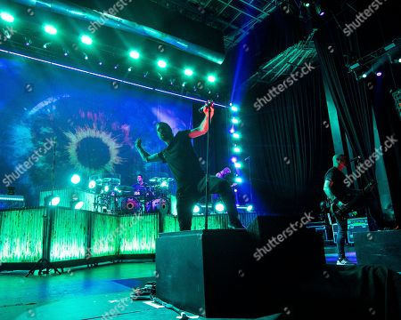 Editorial picture of Breaking Benjamin in Concert - , Mass., Mansfield, USA - 18 Aug 2018