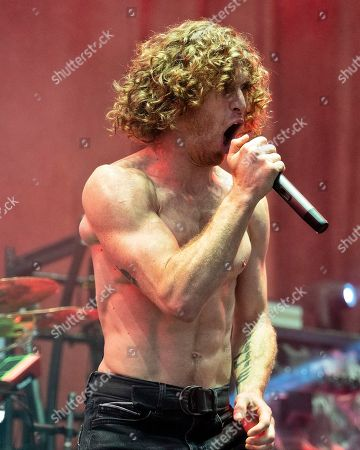 The American heavy metal band Nothing More with lead vocalist Jonny Hawkins performs at the Xfinity Center, in Mansfield, Mass