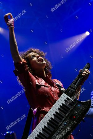 Singer Regine Chassagne performs with Canadian band Arcade Fire  at 'Paredes de Coura' music festival, in Paredes de Coura, north of Portugal, 19 August 2018. The festival runs until 18 August.