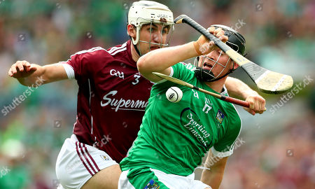 Galway vs Limerick. Galway's Daithi Burke and Peter Casey of Limerick