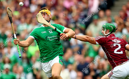 Galway vs Limerick. Limerick's Tom Morrissey goes past Adrian Tuohey of Galway to score his sides second goal