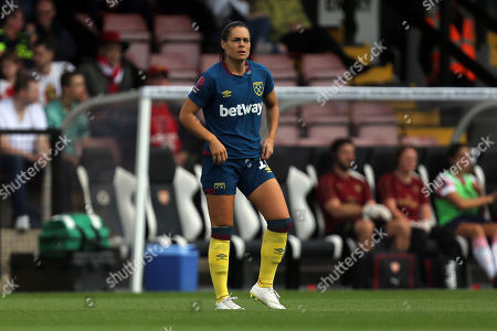 Claire Rafferty of West Ham United WFC during Arsenal Women vs West Ham United Ladies, FA WSL Continental Tyres Cup Football at Meadow Park on 19th August 2018