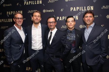 Joey McFarland, Charlie Hunnam, Michael Noer, Rami Malek and David Koplin