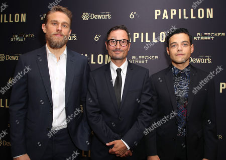 Charlie Hunnam, Michael Noer and Rami Malek