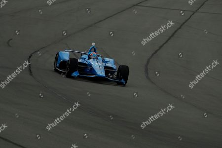 Ed Jones (10) in action during the IndyCar auto race at Pocono Raceway, in Long Pond, Pa