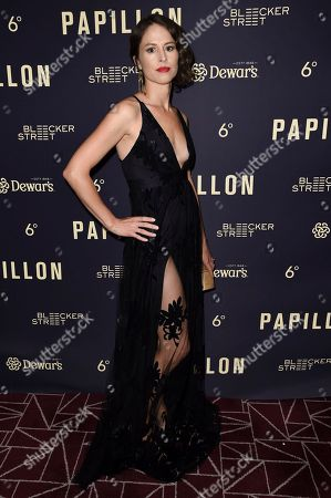 """Mirjam Novak attends a special screening of """"Papillon"""" at the London Hotel, in West Hollywood, Calif"""