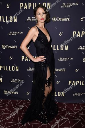 """Stock Picture of Mirjam Novak attends a special screening of """"Papillon"""" at the London Hotel, in West Hollywood, Calif"""
