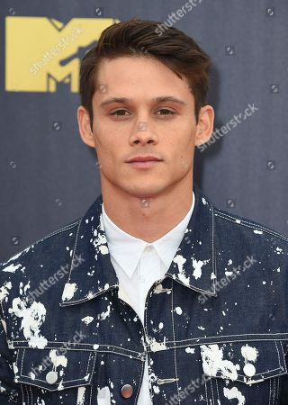 Timothy Granaderos arrives at the MTV Movie and TV Awards at the Barker Hangar, in Santa Monica, Calif