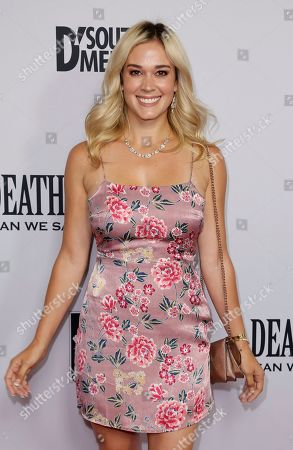 """Lauren Compton arrives at the LA Premiere of """"Death of a Nation"""" at the Regal Cinemas at L.A. Live, in Los Angeles"""