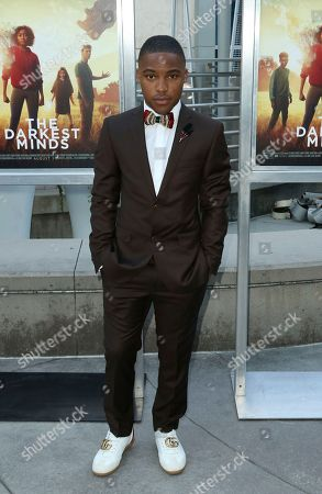 """Stock Picture of McCarrie McCausland arrives at the LA Premiere of """"The Darkest Minds"""" at the Arclight Hollywood, in Los Angeles"""