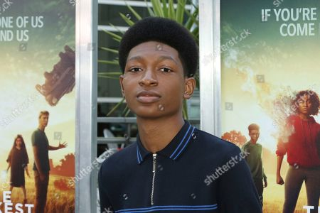 """Skylan Brooks arrives at the LA Premiere of """"The Darkest Minds"""" at the Arclight Hollywood, in Los Angeles"""