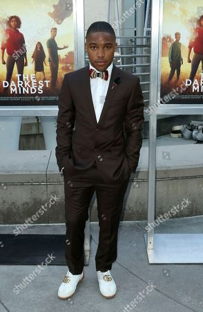 """McCarrie McCausland arrives at the LA Premiere of """"The Darkest Minds"""" at the Arclight Hollywood, in Los Angeles"""