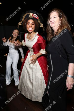 """Sandra Santiago, Joy Villa and Valerie Fahren seen at the premiere of """"Death of a Nation"""", in Los Angeles"""