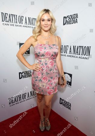 """Stock Image of Lauren Compton seen at the premiere of """"Death of a Nation"""", in Los Angeles"""