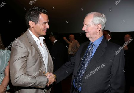 """Stock Picture of Antonio Sabato Jr. and producer Gerald Molen seen at the premiere of """"Death of a Nation"""", in Los Angeles"""
