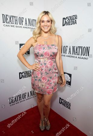 """Lauren Compton seen at the premiere of """"Death of a Nation"""", in Los Angeles"""