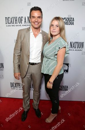 """Stock Photo of Antonio Sabato Jr. and Mina Sabato seen at the premiere of """"Death of a Nation"""", in Los Angeles"""