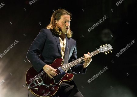 Jamie Cook of the band Arctic Monkeys performs on Day 2 of the 2018 Firefly Music Festival at The Woodlands, in Dover, Del