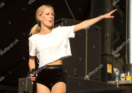 Samantha Gongol of the band Marian Hill performs on Day 2 of the 2018 Firefly Music Festival at The Woodlands, in Dover, Del