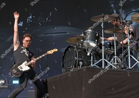 Mike Kerr, left, and Ben Thatcher of the band Royal Blood perform on Day 3 of the 2018 Firefly Music Festival at The Woodlands, in Dover, Del