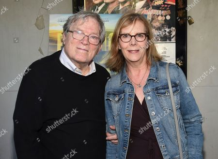 "Stock Picture of Filmmakers D. A. Pennebaker, left, and Chris Hegedus attend a special screening of ""Eating Animals"" at the IFC Center, in New York"