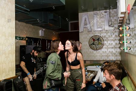 Christa Miller, left, and Charlotte Lawrence are seen backstage at Baby's All Right, in NY, NY