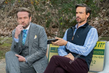 Dallas Roberts as B Armstrong, Christopher Gorham as Bob Barnard