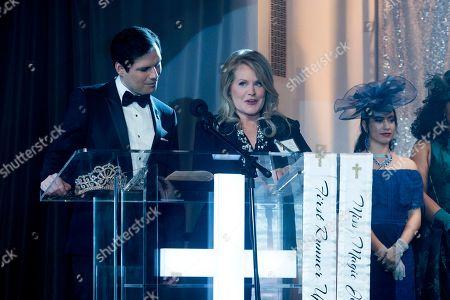 Michael Ian Black as Pastor Mike, Beverly D'Angelo as Stella Rose Buckley