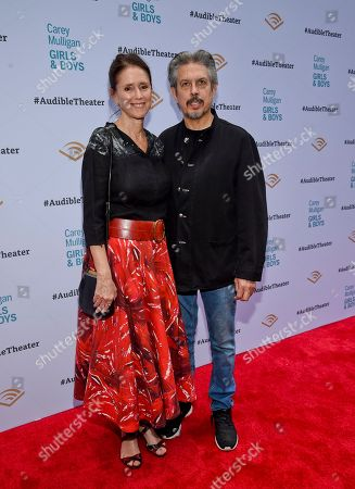 "Julie Taymor and Elliot Goldenthal attend the opening night of ""Girls & Boys"" at the Minetta Lane Theatre, in New York"