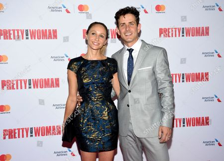 """Stock Photo of Singer Joey McIntyre, right, and wife Barrett Williams attend a Garry Marshall tribute performance of """"Pretty Woman: The Musical"""" at The Nederlander Theatre, in New York"""