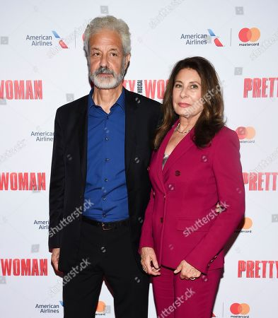 """Producers Rick Nicita, left, and wife Paula Wagner attend a Garry Marshall tribute performance of """"Pretty Woman: The Musical"""" at The Nederlander Theatre, in New York"""