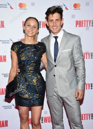 "Singer Joey McIntyre, right, and wife Barrett Williams attend a Garry Marshall tribute performance of ""Pretty Woman: The Musical"" at The Nederlander Theatre, in New York"
