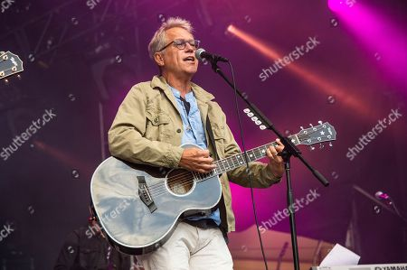 Gerry Beckley of America performs during the Festival d'ete de Quebec, in Quebec City, Canada
