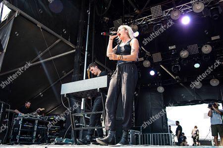 Lynn Gunn of PVRIS seen at Forecastle Music Festival at Waterfront Park, in Louisville, Ky