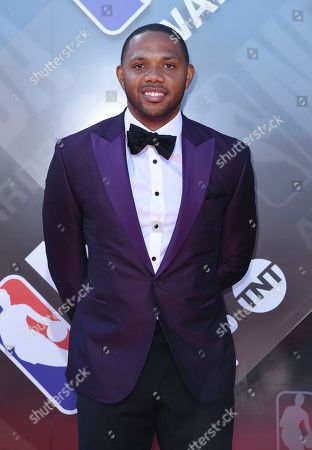 Stock Picture of Eric Gordon arrives at the NBA Awards, at the Barker Hangar in Santa Monica, Calif