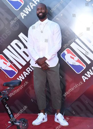 Baron Davis arrives at the NBA Awards, at the Barker Hangar in Santa Monica, Calif