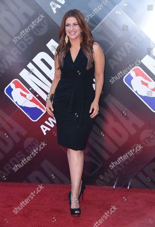 Stock Picture of Rachel Nichols arrives at the NBA Awards, at the Barker Hangar in Santa Monica, Calif